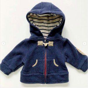 Andy & Evan Navy Hooded Jacket 0-3 mos